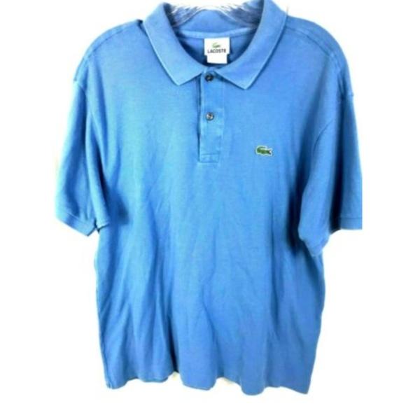 c0af78ed Lacoste Mens Polo Shirt Regular Fit Cotton Blue